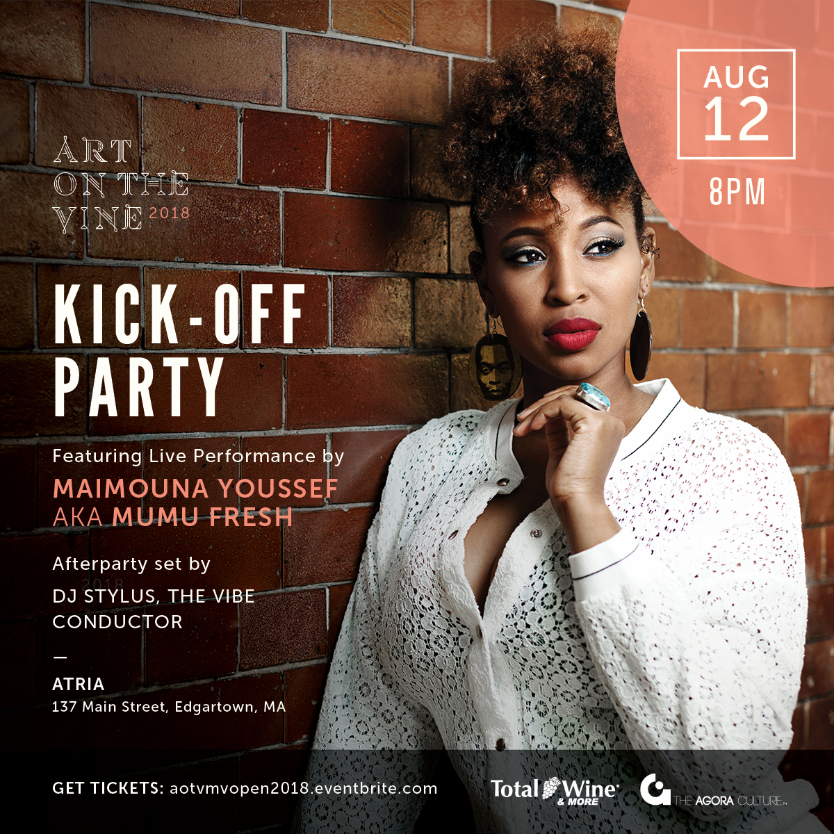 AOTV Martha's Vineyard Kick-Off Party featuring Mumu Fresh & DJ Stylus, Sun. 8/12