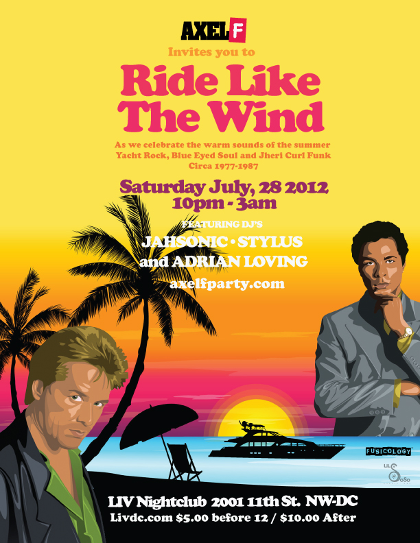 Axel F - Ride Like The Wind, Sat. 7/28