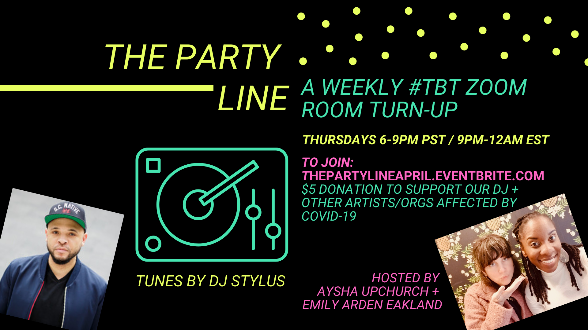 Party Line in the Zoom Room featuring DJ Stylus - The Vibe Conductor