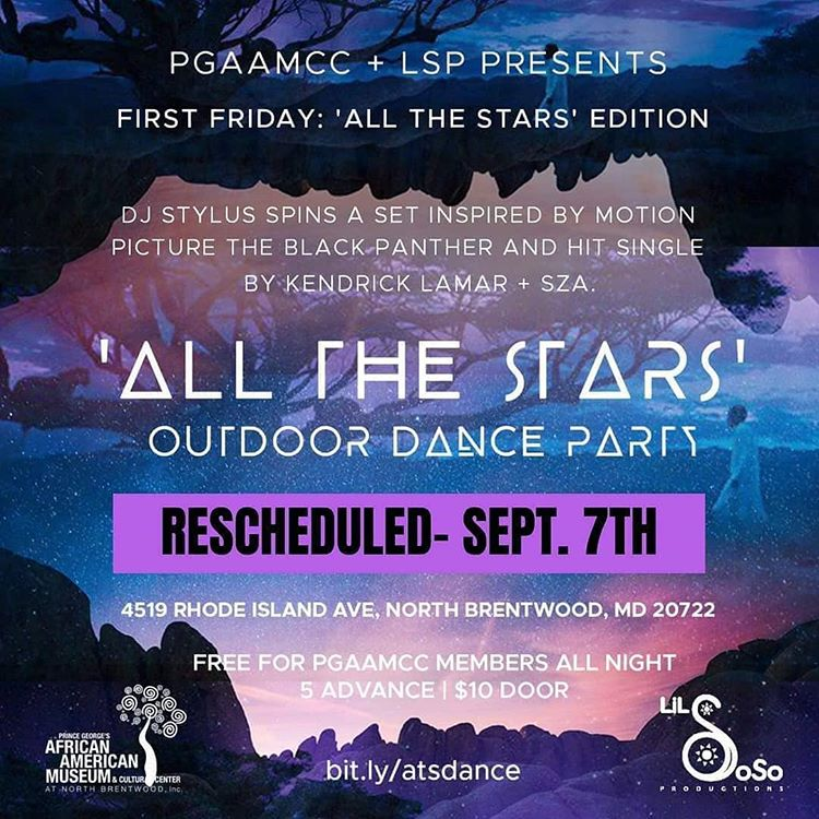 PGAAMCC+LSP Present: First Friday 'All the Stars' Dance Party, Fri. 9/7