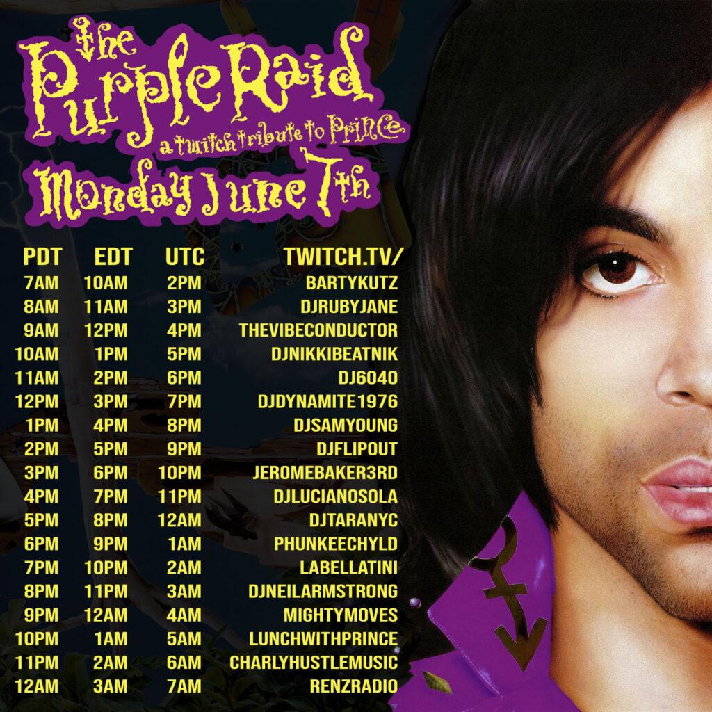 The Purple Raid - June 7, 2021 - full schedule