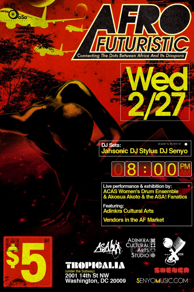 AfroFuturistic returns, Wed. 2/27