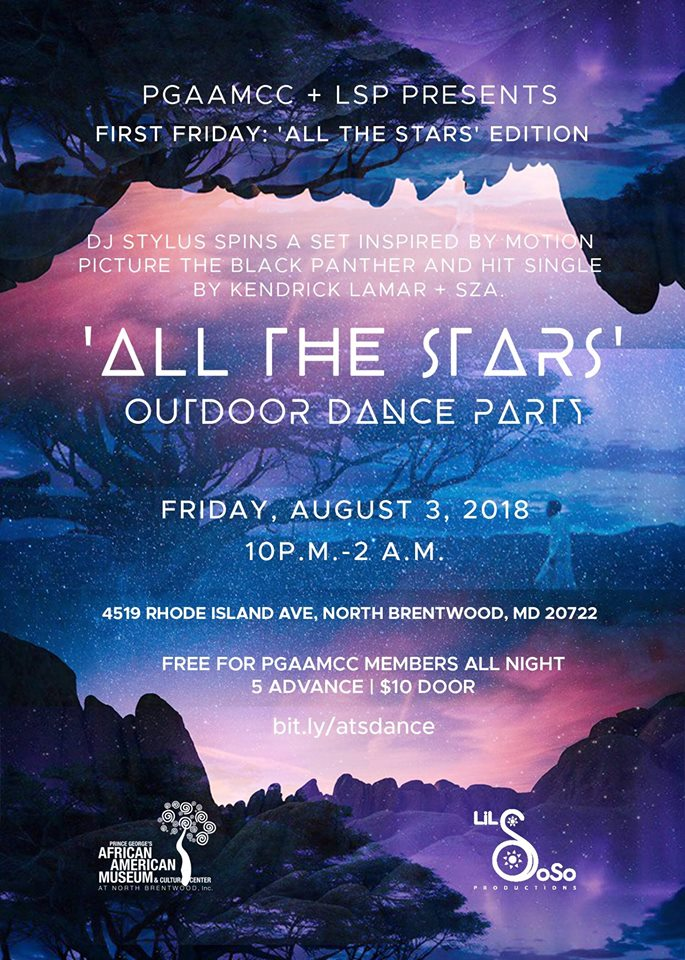 PGAAMCC+LSP Present: First Friday 'All the Stars' Dance Party, Fri. 8/3