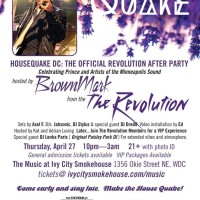 Axel F and The Revolution: The Official After Party, Thurs. 4/27