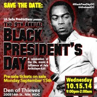 9th Annual Black President's Day: A Tribute to Fela Anikulapo-Kuti, Wed. 10/15