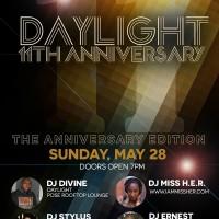 Daylight Anniversary 11, Sun. 5/28