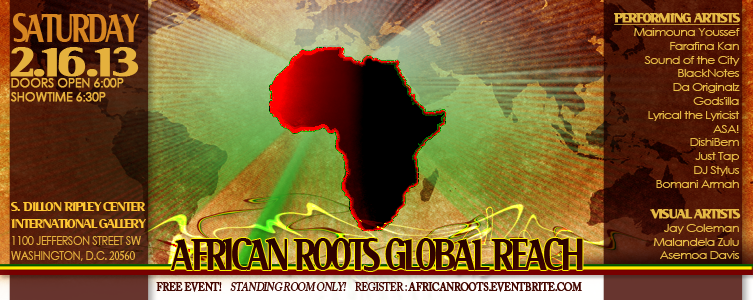 African Roots, Global Reach Sat. 2/16