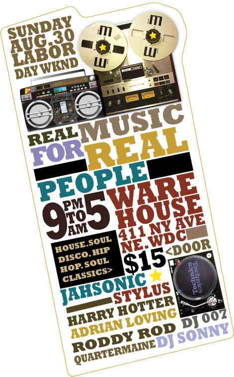 Real Music for Real People, Sun 8/31