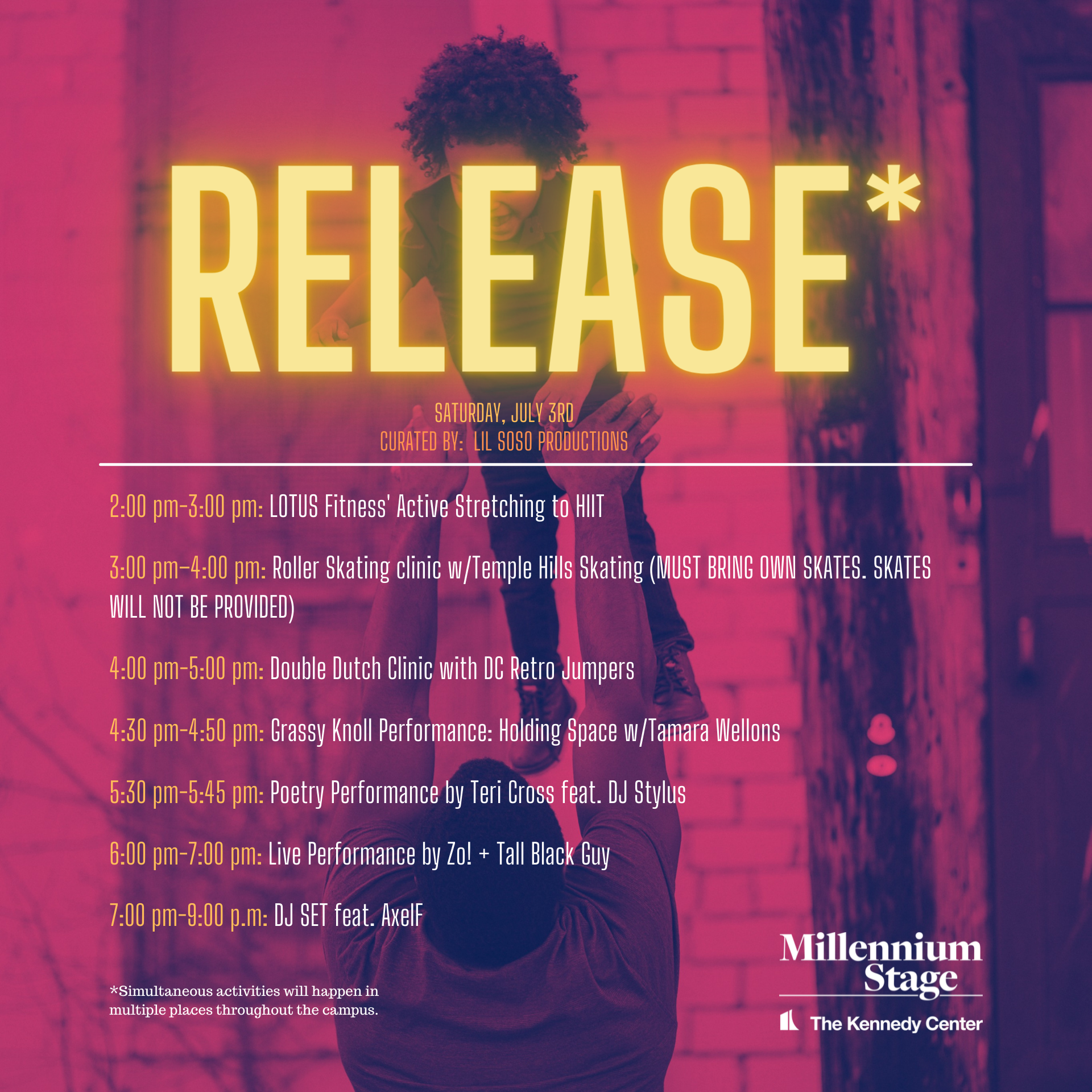 Relax, Relate Release - Kennedy Center's Reach Plaza - July 1-3 2021
