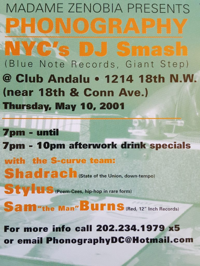 "DJ Smash, DJ Shadrach, DJ Stylus, DJ Sam ""The Man"" Burns - 5/21/2001"