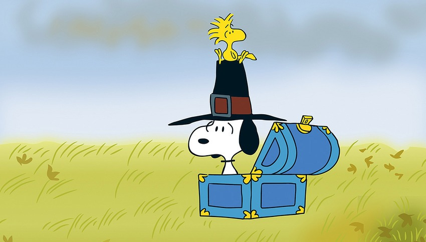 Peanuts Thanksgiving: Snoopy and Woodstock