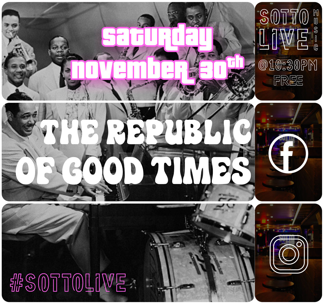 The Vibe Conductor at Sotto, Sat. 11/30