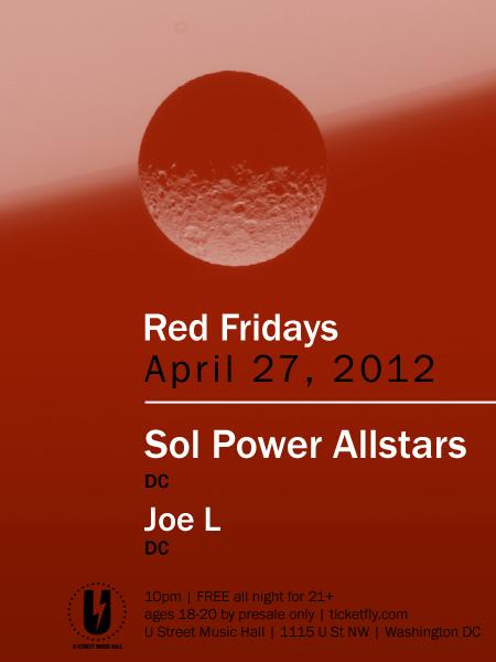Sol Power at U-Hall, Fri. April 27