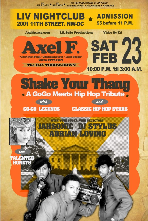 Axel F - Shake Your Thang, Sat. 2/23