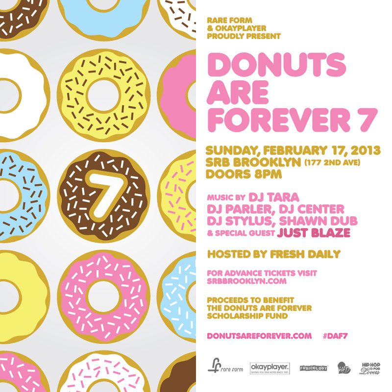 Donuts Are Forever 7, Sun. 2/17