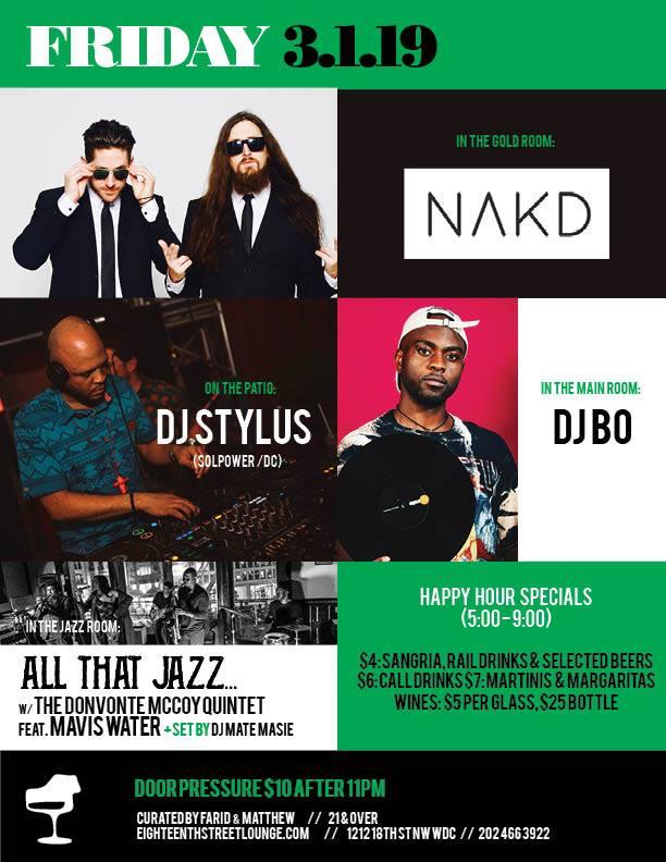 DJ Stylus - The Vibe Conductor at Eighteenth Street Lounge, Fri. 3/1
