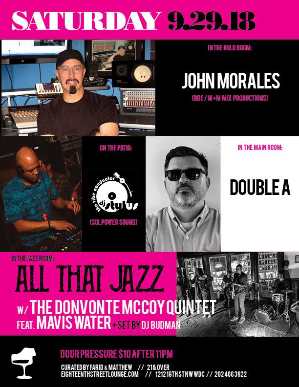 DJ Stylus - The Vibe Conductor at Eighteenth Street Lounge, Sat. 9/29