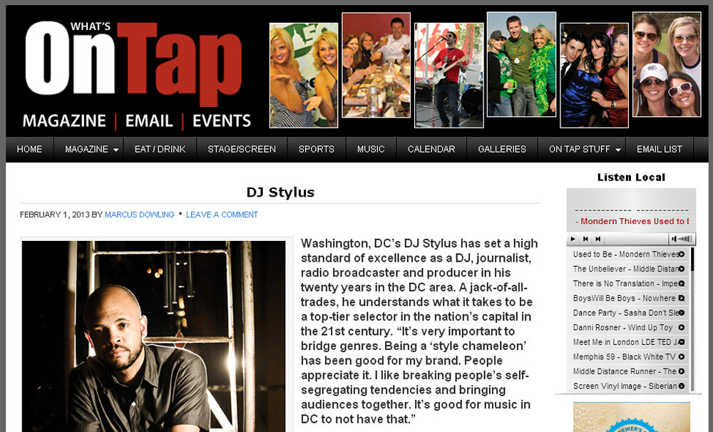 DJ Stylus - Feb. 1 2013 by Marcus Dowling (On Tap Online)