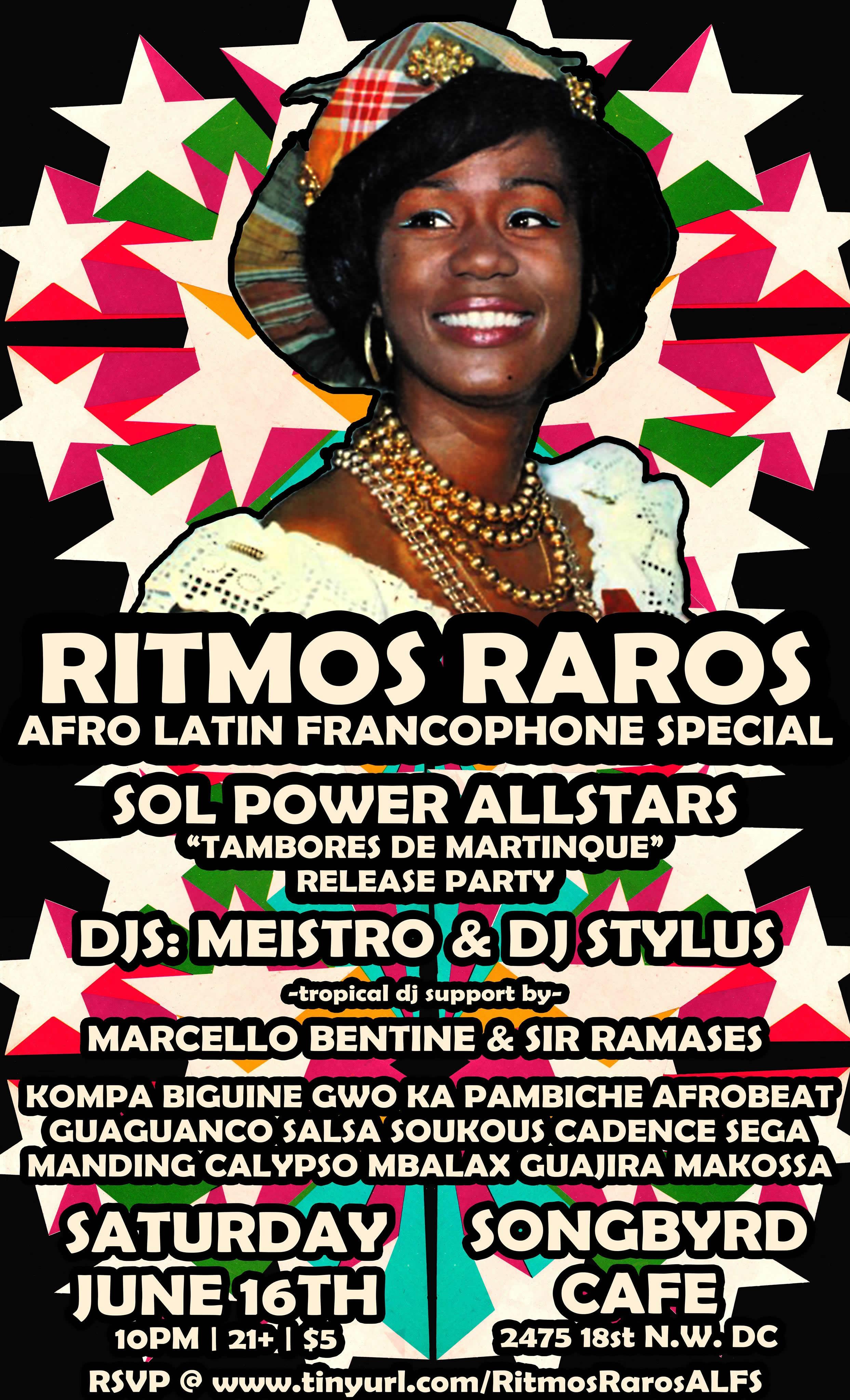 Ritmos Raros: Afro Latin Francophone Special: Sol Power EP Party
